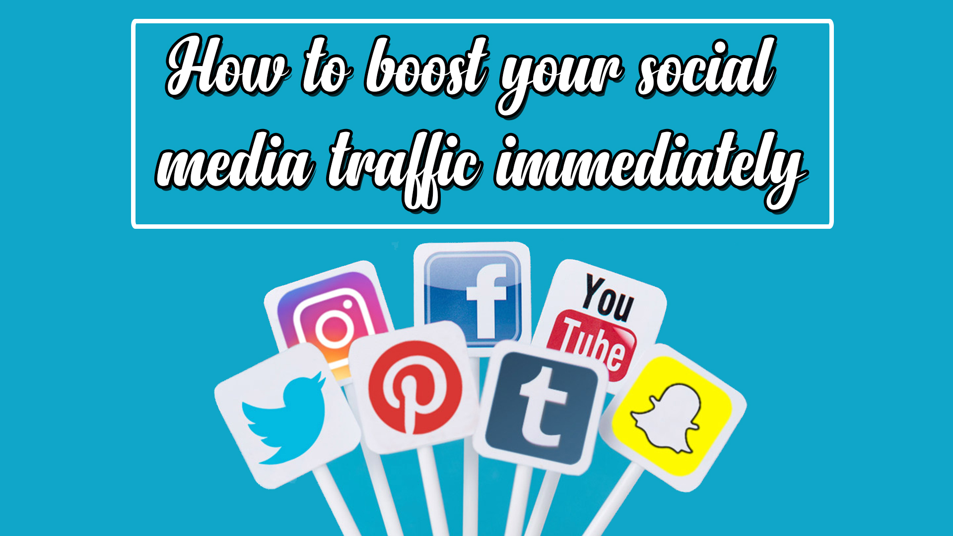 How to boost your social media traffic immediately