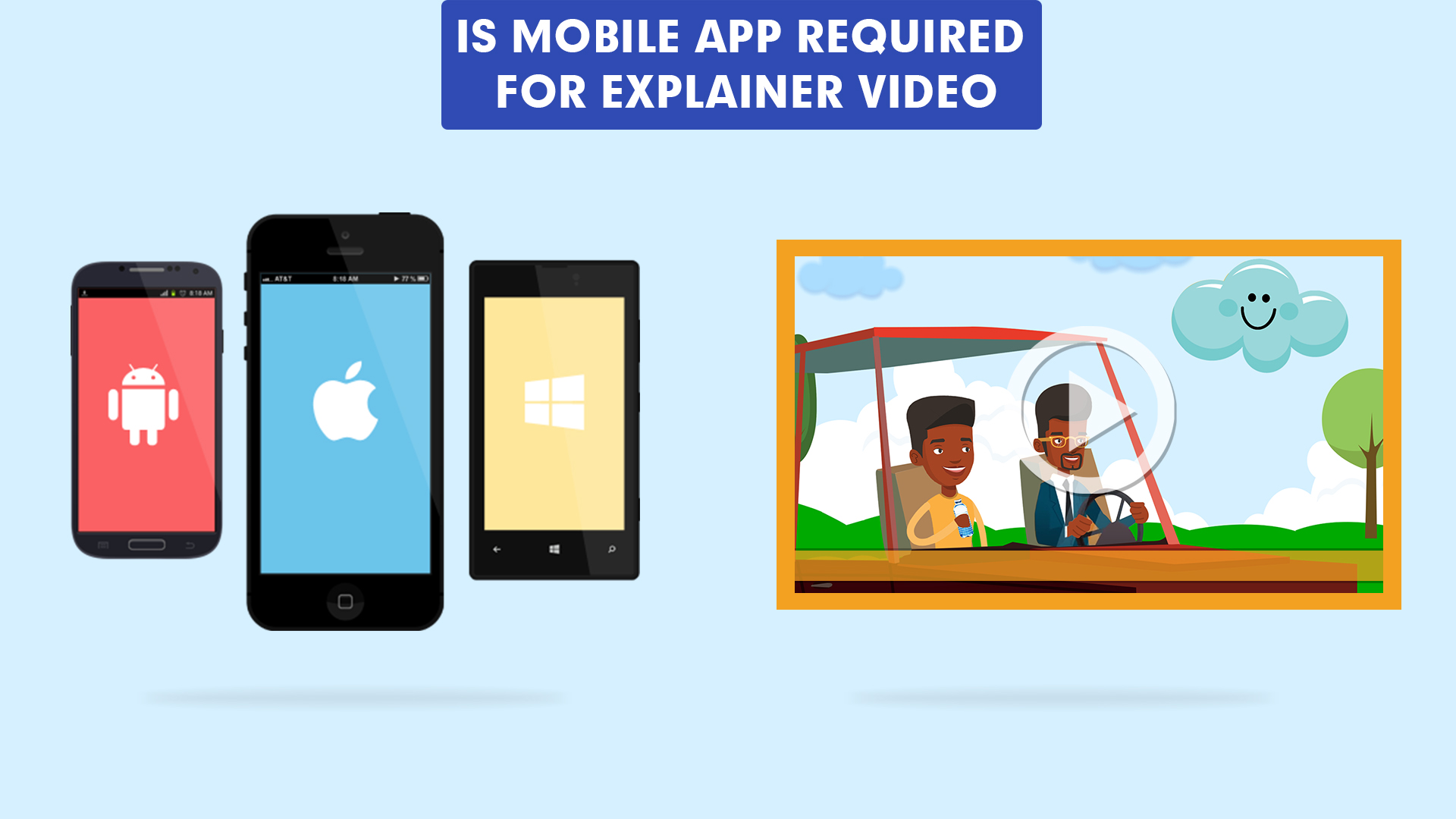 Is mobile app required for explainer video